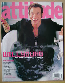 <!--2003-11-->Attitude magazine - Will Young cover (November 2003 - Issue 1