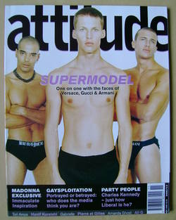 <!--1999-11-->Attitude magazine - Supermodels cover (November 1999 - Issue