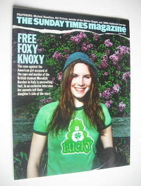 <!--2008-06-15-->The Sunday Times magazine - Amanda Knox cover (15 June 200
