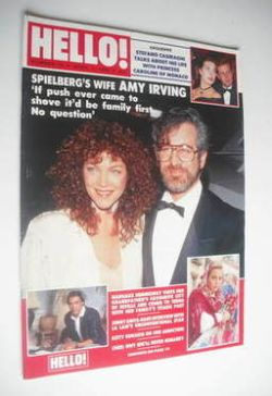 <!--1989-04-01-->Hello! magazine - Amy Irving cover (1 April 1989 - Issue 4
