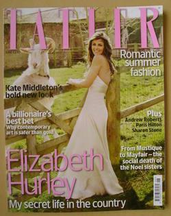 <!--2009-06-->Tatler magazine - June 2009 - Elizabeth Hurley cover