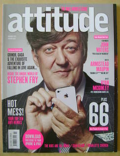 <!--2010-11-->Attitude magazine - Stephen Fry cover (November 2010 - Issue