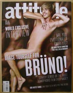 <!--2009-07-->Attitude magazine - Bruno (Sacha Baron Cohen) cover (July 200