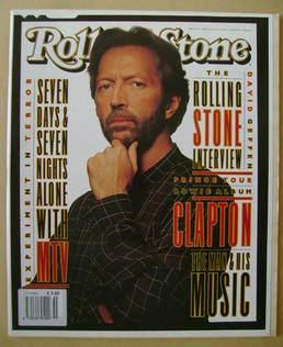 Rolling Stone magazine - Eric Clapton cover (29 April 1993 - Issue 655)