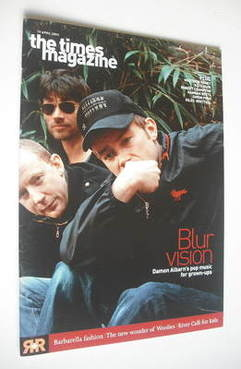 <!--2003-04-19-->The Times magazine - Blur cover (19 April 2003)