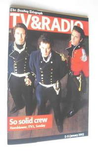 The Sunday Telegraph TV and Radio magazine (5-11 January 2003)