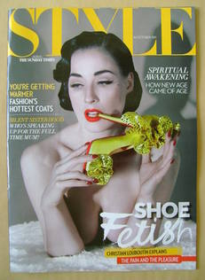 <!--2011-10-16-->Style magazine - Dita Von Teese cover (16 October 2011)