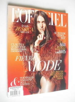 L'Officiel Paris magazine (August 2011 - Jessica Miller cover)