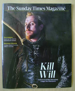 <!--2011-10-16-->The Sunday Times magazine - Rhys Ifans cover (16 October 2
