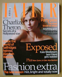 <!--2008-02-->Tatler magazine - February 2008 - Charlize Theron cover