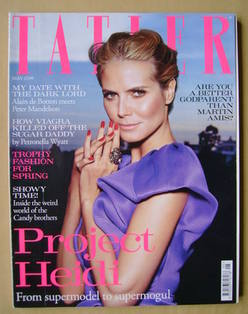 <!--2010-05-->Tatler magazine - May 2010 - Heidi Klum cover