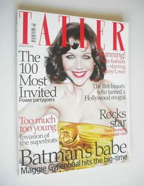 <!--2008-08-->Tatler magazine - August 2008 - Maggie Gyllenhaal cover