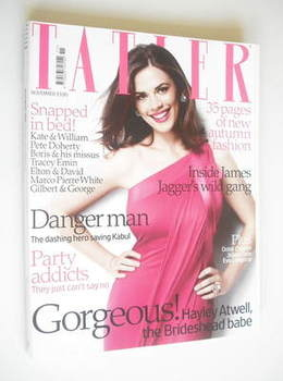 <!--2008-11-->Tatler magazine - November 2008 - Hayley Atwell cover