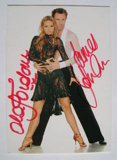 Ola Jordan and James Jordan autograph