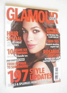 Glamour magazine - Rosario Dawson cover (March 2009 - South Africa Edition)