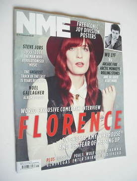 <!--2011-10-15-->NME magazine - Florence Welch cover (15 October 2011)