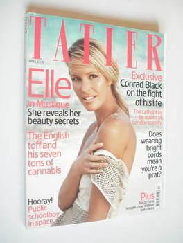 <!--2007-04-->Tatler magazine - April 2007 - Elle Macpherson cover