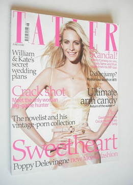 <!--2008-06-->Tatler magazine - June 2008 - Poppy Delevingne cover