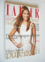 <!--2007-12-->Tatler magazine - December 2007 - Hilary Swank cover