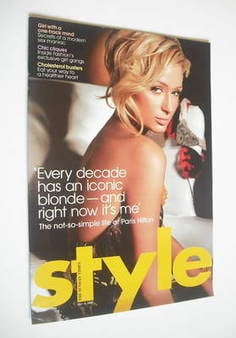 <!--2006-07-16-->Style magazine - Paris Hilton cover (16 July 2006)
