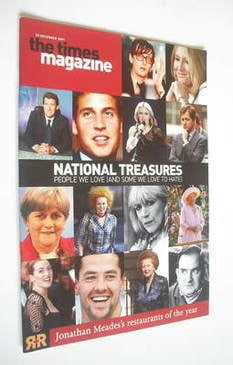<!--2001-12-22-->The Times magazine - National Treasures cover (22 December