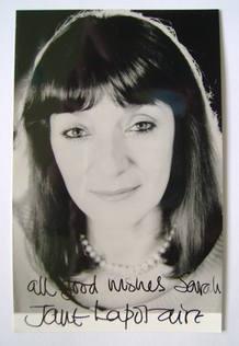 Jane Lapotaire autograph