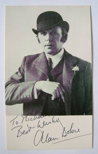 Alan Dobie autograph (hand-signed photograph, dedicated)