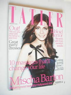 <!--2008-01-->Tatler magazine - January 2008 - Mischa Barton cover