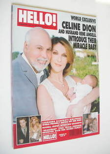 <!--2001-03-06-->Hello! magazine - Celine Dion cover (6 March 2001 - Issue