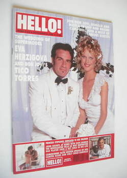 Hello! magazine - Eva Herzigova and Tico Torres cover (21 September 1996 - Issue 425)