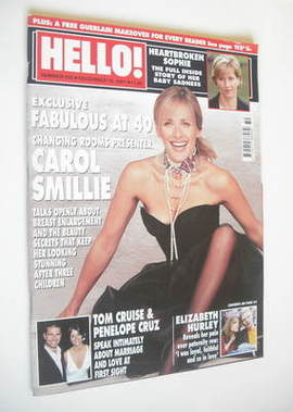 <!--2001-12-18-->Hello! magazine - Carol Smillie cover (18 December 2001 -