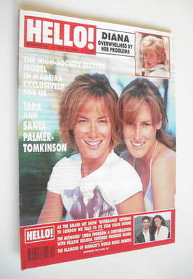 <!--1996-05-18-->Hello! magazine - Tara Palmer-Tomkinson and sister cover (