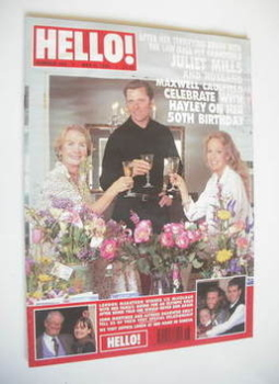 <!--1996-05-04-->Hello! magazine - Juliet Mills, Maxwell Caulfield and Hayley Mills cover (4 May 1996 - Issue 405)