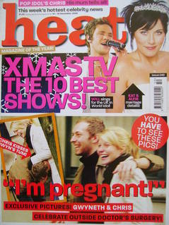 Heat magazine - I'm Pregnant! cover (13-19 December 2003 - Issue 249)
