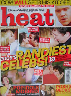 Heat magazine - 2003's Randiest Celebs! cover (6-12 December 2003 - Issue 248)