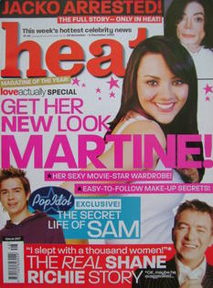 Heat magazine - Martine McCutcheon cover (29 November - 5 December 2003 - Issue 247)
