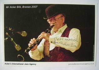 Acker Bilk autograph (hand-signed photograph)