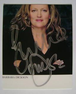 Barbara Dickson autograph