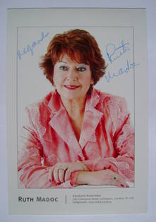 Ruth Madoc autograph