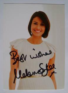 Melanie Sykes autograph