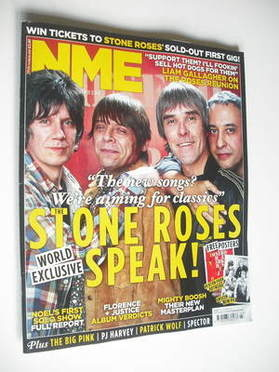<!--2011-10-29-->NME magazine - The Stone Roses cover (29 October 2011)