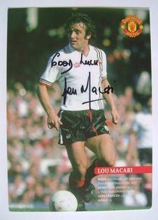Lou Macari autograph
