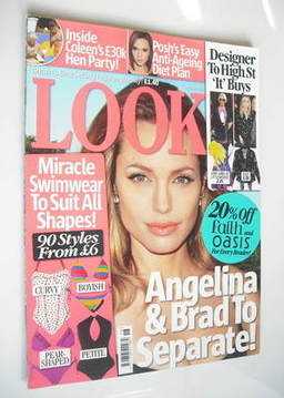 <!--2008-05-05-->Look magazine - 5 May 2008 - Angelina Jolie cover