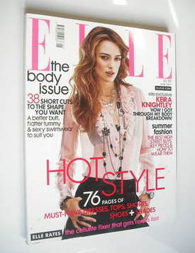 <!--2007-06-->British Elle magazine - June 2007 - Keira Knightley cover