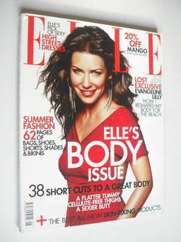 <!--2006-06-->British Elle magazine - June 2006 - Evangeline Lilly cover