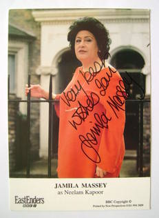 Jamila Massey autograph (ex EastEnders actor)