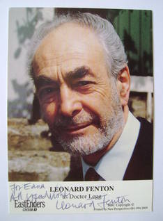 Leonard Fenton autograph (ex EastEnders actor)