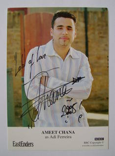 Ameet Chana autograph (ex EastEnders actor)