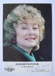 Elizabeth Power autograph (ex EastEnders actor)