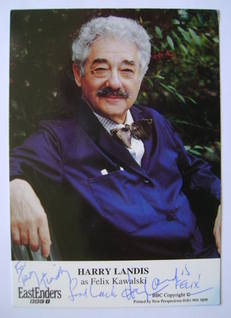 Harry Landis autograph (ex EastEnders actor)